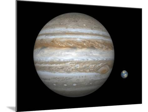 Jupiter And Earth Compared, Artwork-Walter Myers-Mounted Photographic Print