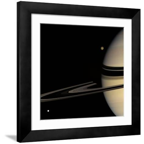 Saturn, Cassini Image--Framed Art Print