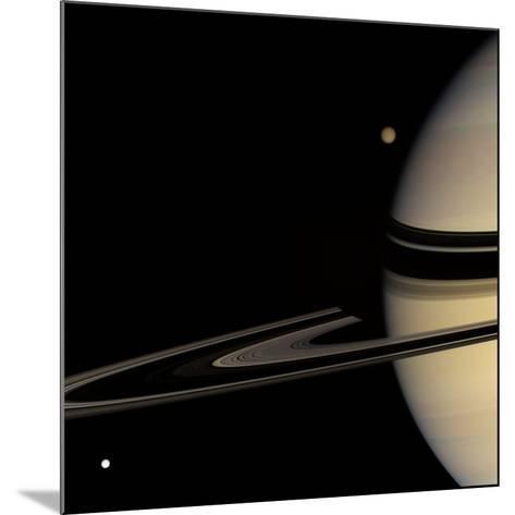 Saturn, Cassini Image--Mounted Photographic Print