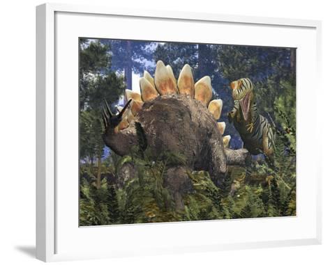 Jurassic Dinosaurs, Artwork-Walter Myers-Framed Art Print
