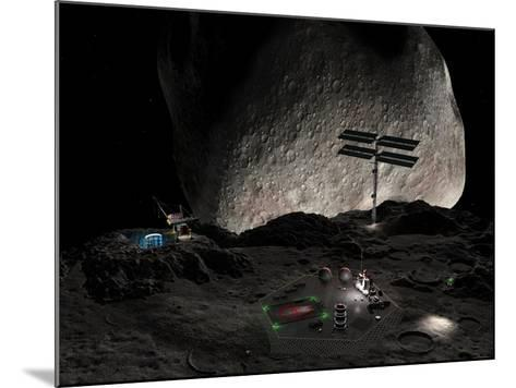 Asteroid Mining Settlement, Artwork-Walter Myers-Mounted Photographic Print
