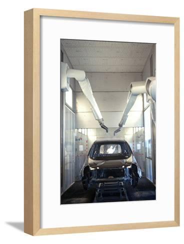 Robotic Car Production Line-Ria Novosti-Framed Art Print