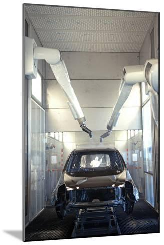 Robotic Car Production Line-Ria Novosti-Mounted Photographic Print