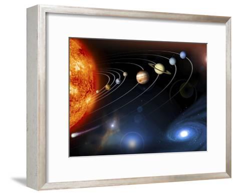 Solar System Planets--Framed Art Print