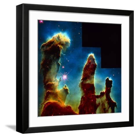 Gas Pillars In Eagle Nebula--Framed Art Print