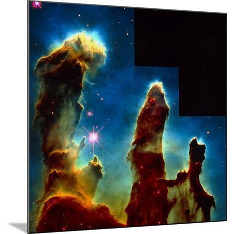 Gas Pillars In Eagle Nebula--Mounted Photographic Print