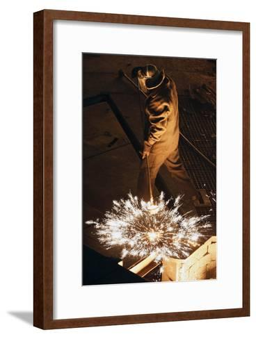 Steel Foundry Worker-Ria Novosti-Framed Art Print