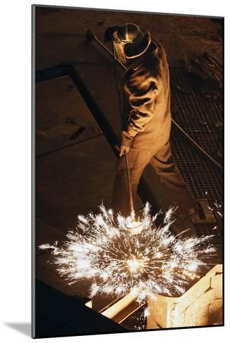 Steel Foundry Worker-Ria Novosti-Mounted Photographic Print