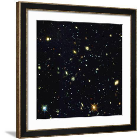 HST Deep-view of Several Very Distant Galaxies--Framed Art Print