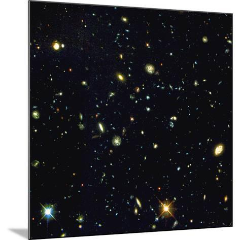 HST Deep-view of Several Very Distant Galaxies--Mounted Photographic Print