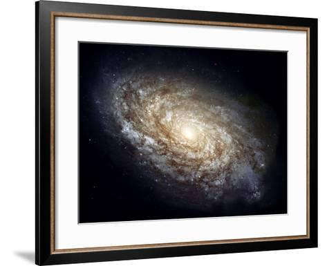 Spiral Galaxy NGC 4414--Framed Art Print