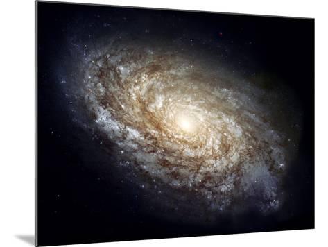 Spiral Galaxy NGC 4414--Mounted Photographic Print