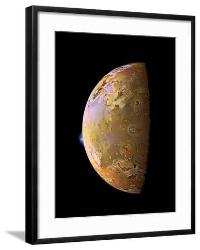 Galileo Spacecraft Image of a Volcanic Plume on Io--Framed Art Print