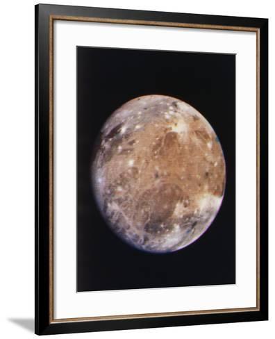Voyager I Photo of Ganymede, Jupiter's Third Moon--Framed Art Print