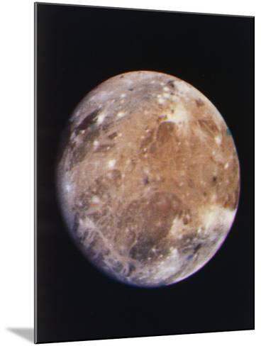 Voyager I Photo of Ganymede, Jupiter's Third Moon--Mounted Photographic Print