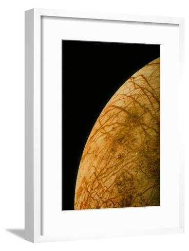 Voyager 2 Photo of Europa, One of Jupiter's Moons--Framed Art Print