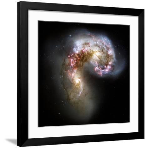 Antennae Galaxies, HST Image--Framed Art Print