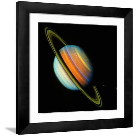 Voyager 2 Image of Saturn & Its Rings--Framed Art Print