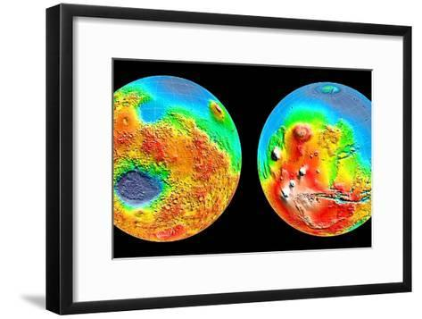 3-D Topography of Mars--Framed Art Print