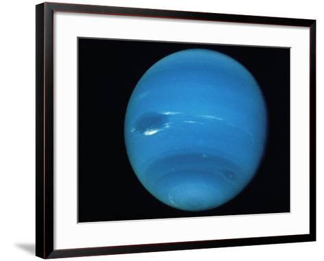 Voyager 2 Image of the Planet Neptune--Framed Art Print