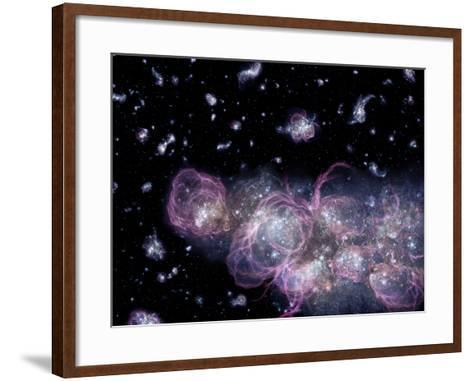 Star Birth In the Early Universe--Framed Art Print