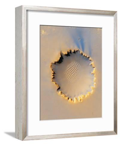 Victoria Crater, Mars, MRO Image--Framed Art Print