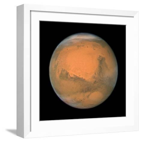 Mars Close Approach 2007, HST Image--Framed Art Print