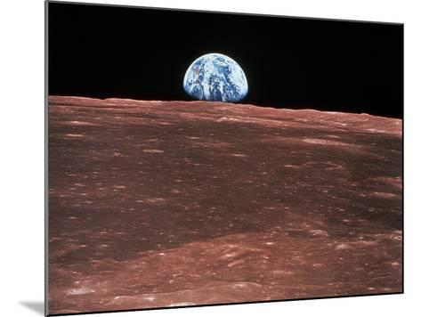 Earth Rising--Mounted Photographic Print