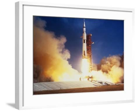 Launch of Apollo 11 Spacecraft En Route To Moon--Framed Art Print