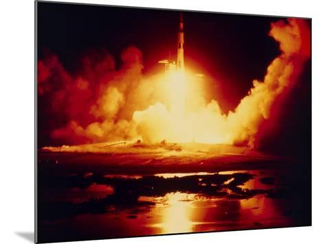 Night Launch of Apollo 17--Mounted Photographic Print