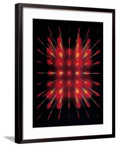 Laser Light Beamed Through An Interferometer--Framed Art Print
