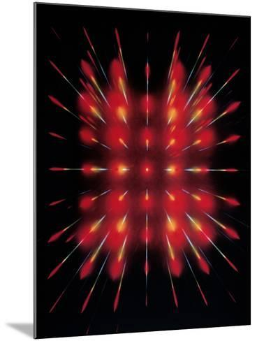 Laser Light Beamed Through An Interferometer--Mounted Photographic Print