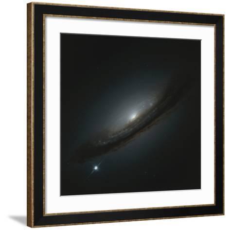 Supernova In Galaxy--Framed Art Print