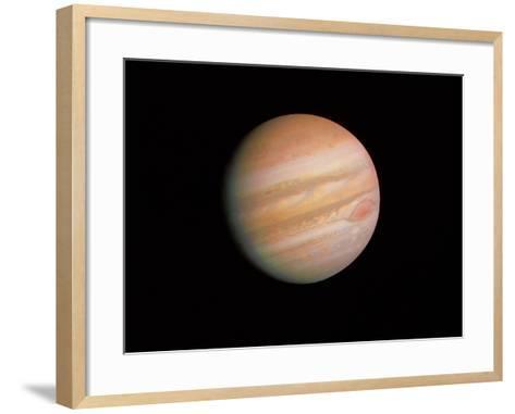 Voyager 1 Photo of Jupiter--Framed Art Print