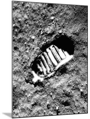 Apollo 11 Astronaut Footprint on Moon--Mounted Photographic Print
