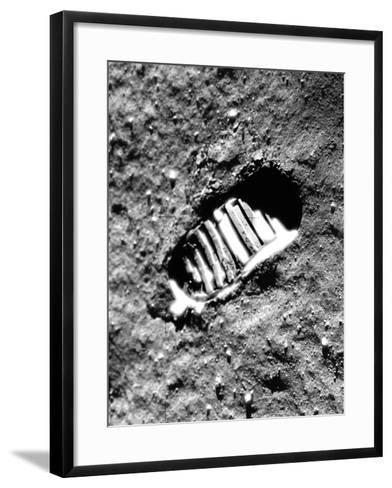 Apollo 11 Astronaut Footprint on Moon--Framed Art Print