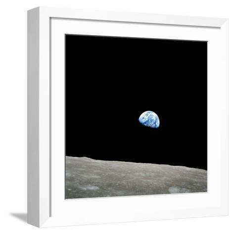 Earthrise Over Moon, Apollo 8--Framed Art Print