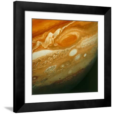 Voyager 1 View of Jupiter's Great Red Spot--Framed Art Print