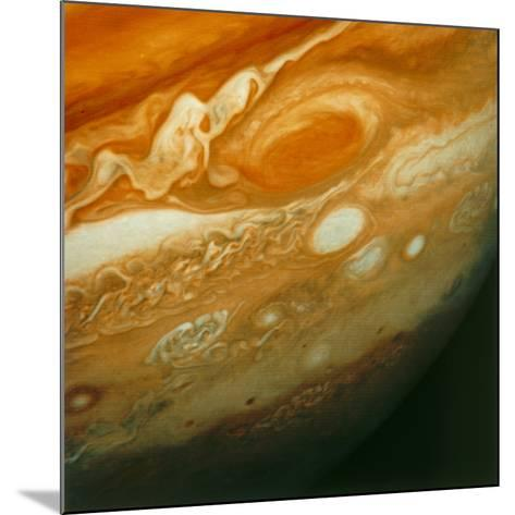 Voyager 1 View of Jupiter's Great Red Spot--Mounted Photographic Print