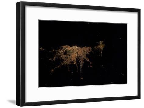 City Lights of Buenos Aires, Argentina--Framed Art Print