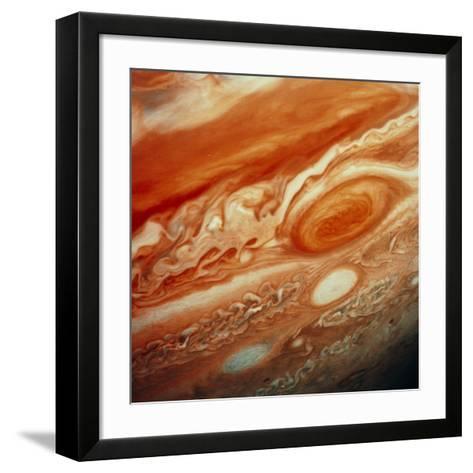 Voyager 2 Image of Jupiter, Showing Great Red Spot--Framed Art Print