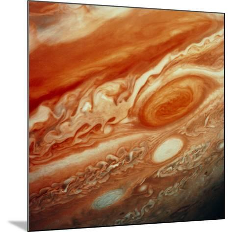 Voyager 2 Image of Jupiter, Showing Great Red Spot--Mounted Photographic Print