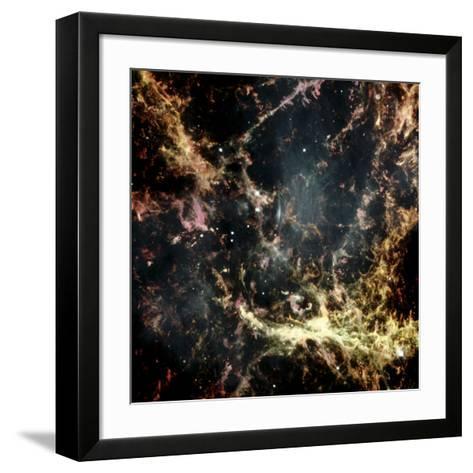 Crab Nebula Gas Filaments--Framed Art Print