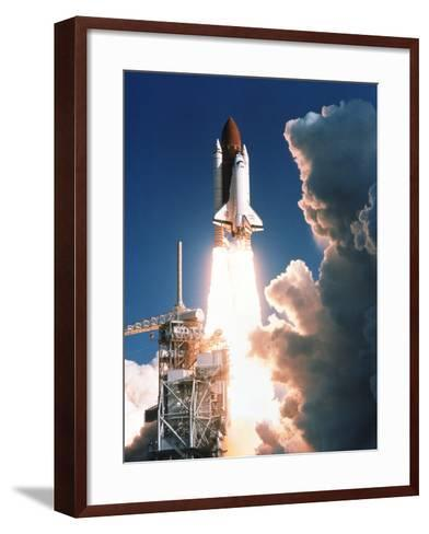 Space Shuttle Launch--Framed Art Print