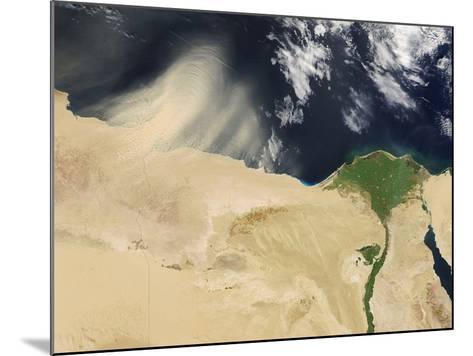 Sandstorm, Satellite Image--Mounted Photographic Print