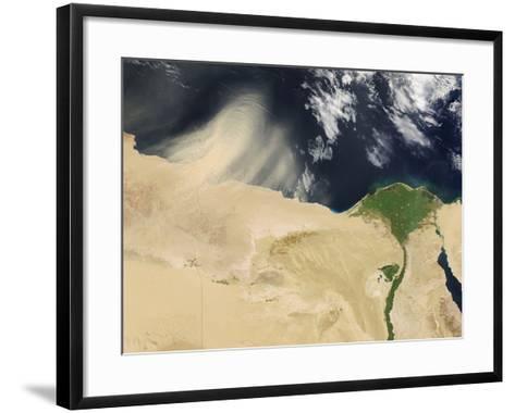 Sandstorm, Satellite Image--Framed Art Print