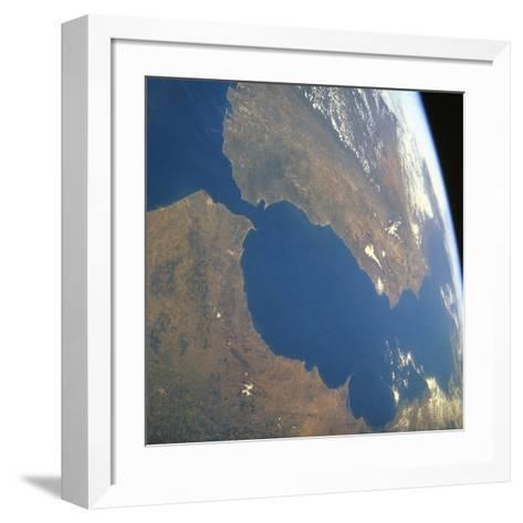 Strait of Gibraltar, Satellite Image--Framed Art Print