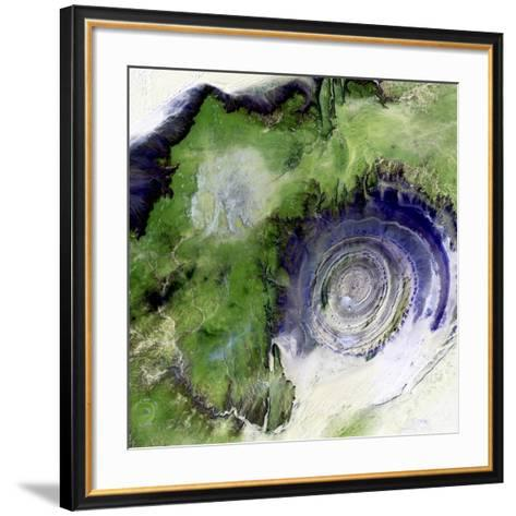 Richat Structure, Satellite Image--Framed Art Print