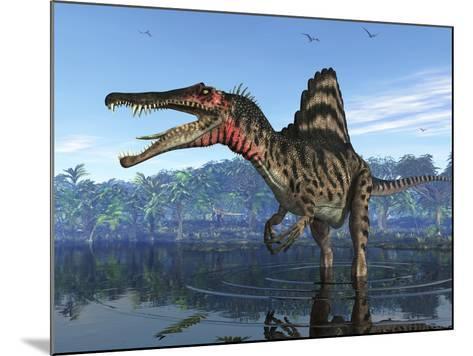 Spinosaurus Dinosaur, Artwork-Walter Myers-Mounted Photographic Print
