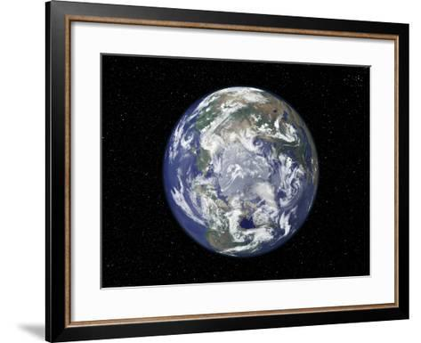 The Arctic, Satellite Image--Framed Art Print
